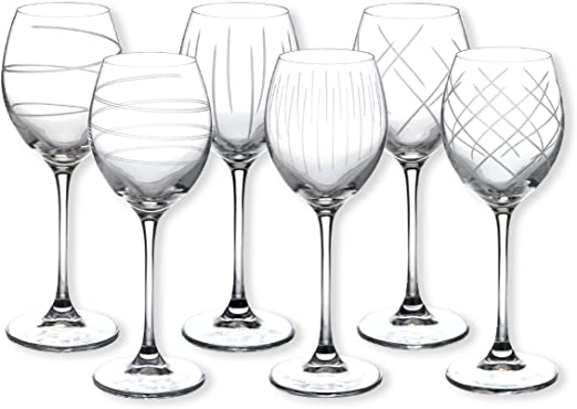 Saga – Estuche de 6 copas de vino – Material: vidrio – Color: transparente – Copas de vino – Bruno Evrard: Amazon.es: Hogar