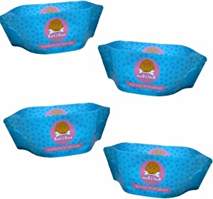 Foldable Dog Water and Food Travel Bowls - Fit in Your Pocket! Portable & Reusable Dog Bowls to Hydrate and Feed Your Dog On The Go! Pack of 4 Bowls