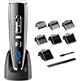 HATTEKER Hair Clippers for Men Electric Clippers Trimmer Grooming Set Cordless Rechargeable Clippers Waterproof LED Display USB Charger Haircut Hair Cutting Ceramic Blade Christmas Fathers gifts