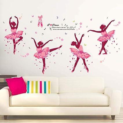iwallsticker Creativo Danza ragazza Adesivi murali per camera da ...