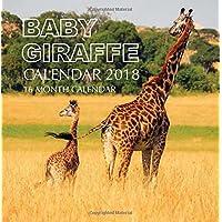 Baby Giraffe Calendar 2018: 16 Month Calendar