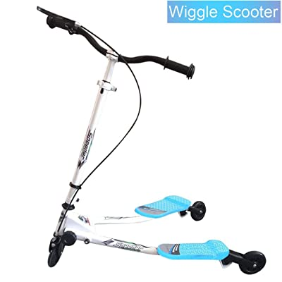 Rampmu Y Flicker Scooters for Kids, 3 Wheels Folding Micro Air Push Swing Scooter for Boys/Girls/Children (US Stock): Toys & Games