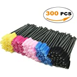 Mascara Brushes, LEOKOR 300 Pieces Disposable Mascara Wands Eye Lash Brushes Eyelash Applicators Makeup Brush Kit