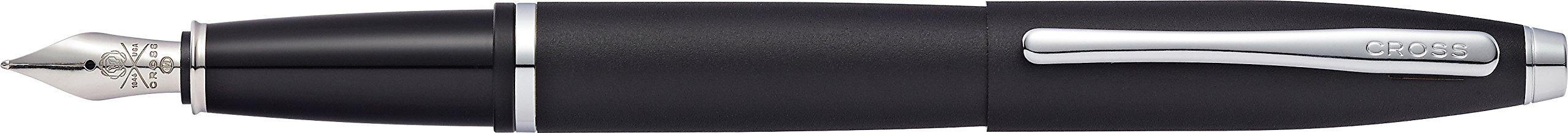 Cross Calais Matte Black Fountain Pen with Stainless Steel Medium Nib