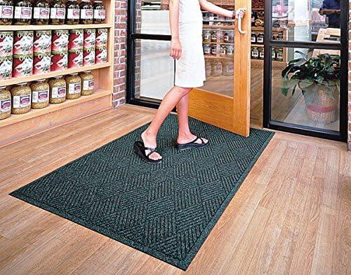 American Floor Mats Waterhog Premier Fashion Khaki 3 x 12 Entrance Mat – Smooth Back, Fabric Border