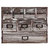 MyGift 13-Inch Weathered Whitewashed Brown Wood