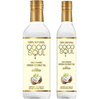 Coco Soul Cold Pressed Natural Virgin Coconut Oil, 1 L with Free 250 ml Pack