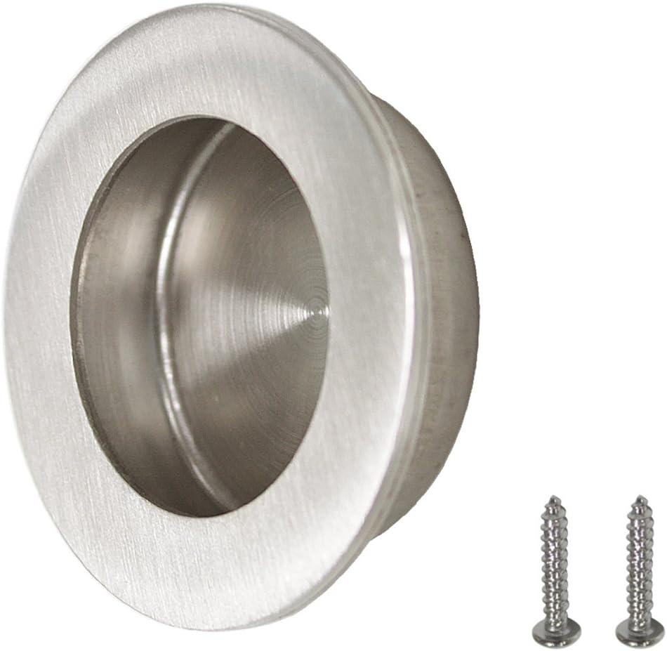 2 Pack 50 mm Durchmesser Probrico MH005SS50 Runde Edelstahl-Ziehgriffe edelstahl