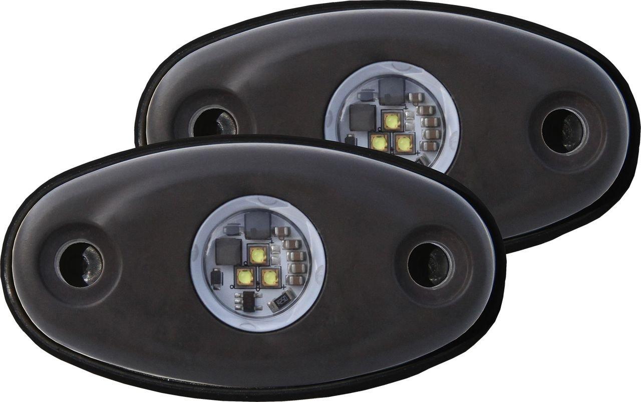 Rigid Industries 48227 A-Series Cool Tri-Plex High Strength LED Light, (Set of 2)