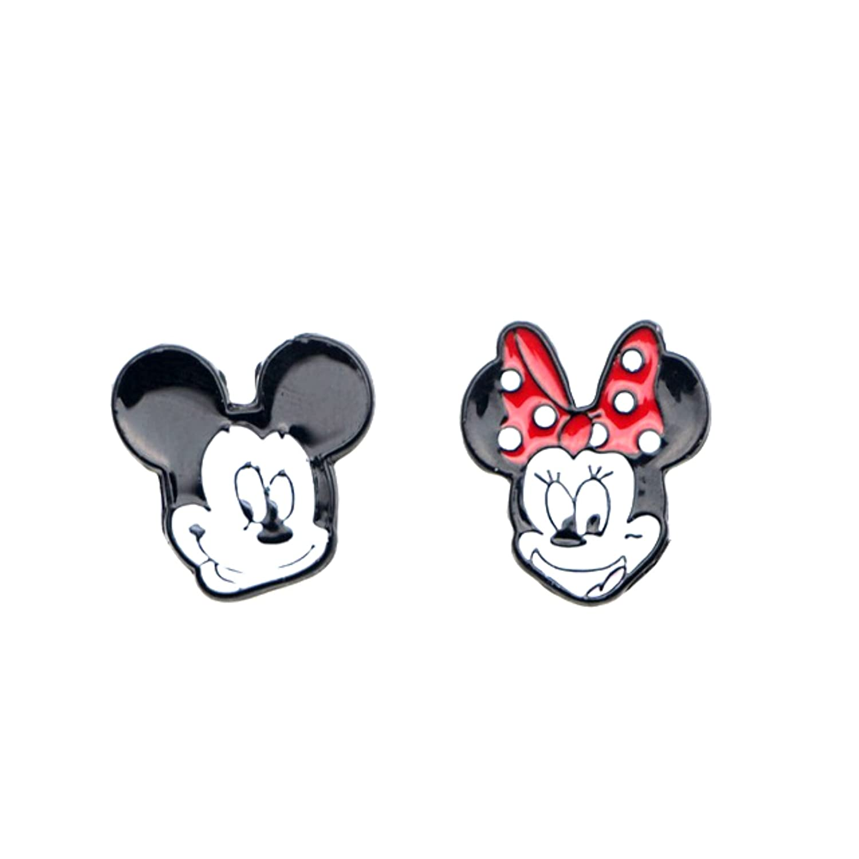 Amazon.com: Disney s Mickey y Minnie arete Post broches ...