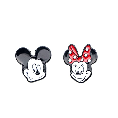 Amazon.com: Disney s Mickey y Minnie arete Post broches ...