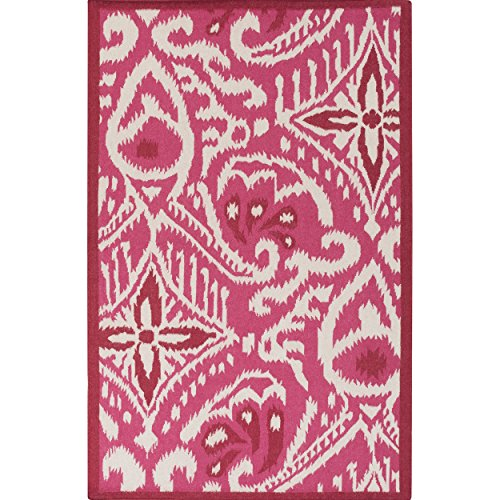 Surya Kate Spain MRS2004-811 Hand Woven Casual Area Rug, 8 by 11-Feet, Burgundy/Beige by Surya