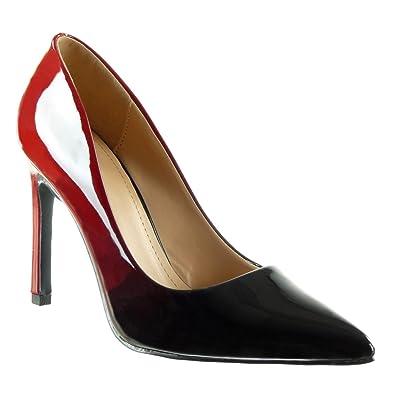 Angkorly Damen Schuhe Pumpe - Stiletto - Dekollete - Farbgradienten Stiletto High Heel 10 cm