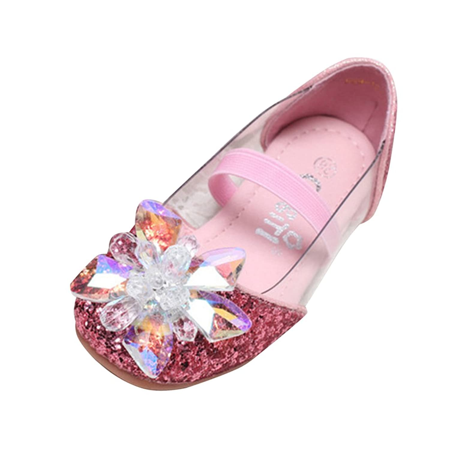 a349f2ef418 Amur Leopard Kids Girls Mary Jane Shoes Diamonds Glitter Powder Bowknot  Dance Wedding Princess Shoes(