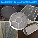 KONIBN 5pcs Stainless Steel Woven Wire 20 Mesh - A4