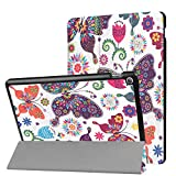 "ASUS ZenPad 10 Z301 / Z300 Case, Ratesell Tri-Fold Ultra Slim Stand Smart Case Cover with Auto Wake/Sleep Feature for ASUS ZenPad Z301 / Z300 10.1"" Tablet Fly Butterfly"