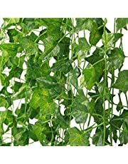 MARTHA&IVAN 14 Strands Artificial Ivy, Fake Ivy Garland Decorations,Fake Plants,Fake Vine,Vine Decoration for Wedding,Party, Garden, Home Decoration (14 Strands)