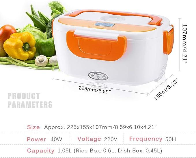 Fiambrera P/ótatil para Ni/ños y Adultos Janolia Fiambrera El/éctrica Materiales de la Categor/ía Alimenticia Conservar Comidas y Frutas 40W