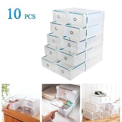 Vinteky 10x Cajas Almacenaje Plegable De Plastico Cajon Organizador