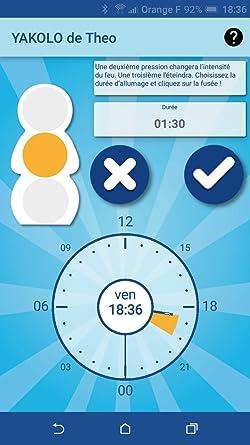 YAKOLO® Le coach du temps Aidez vos enfants à mieux dormir et Apprenez à vos enfants le concept du temps 100% Made in France Time Coach