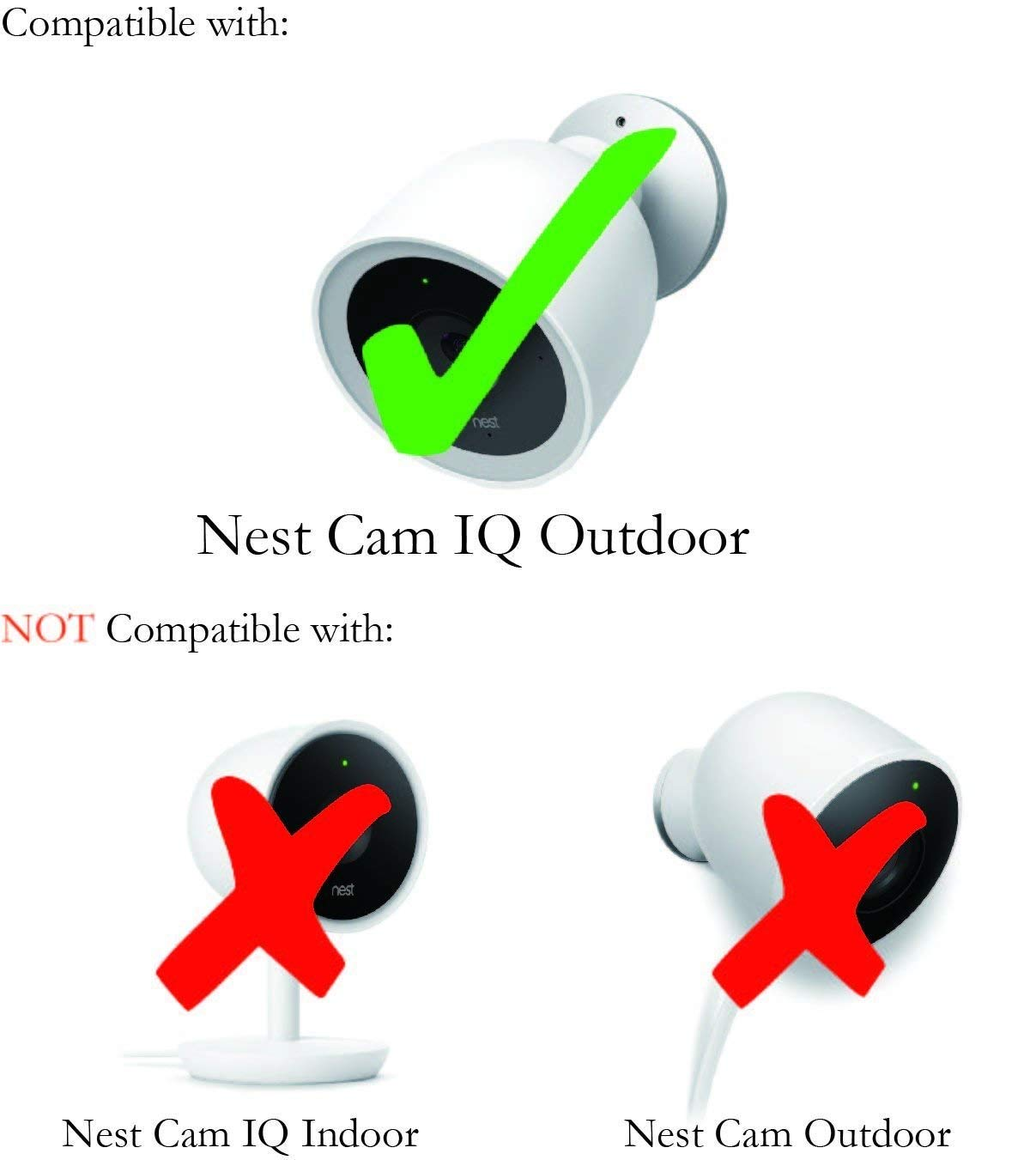1 Pack, Grey Nest Cam IQ Outdoor Skin by Wasserstein Colorful Silicone Skins Compatible with Nest Cam IQ Outdoor Security Camera; Camouflage and Accessorize Your Camera