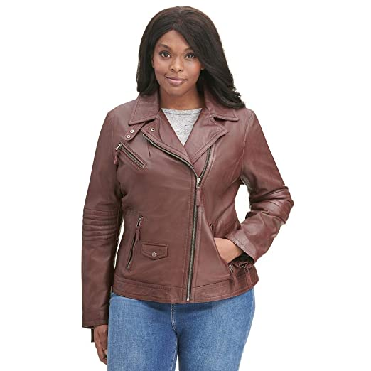 latest trends of 2019 better price for attractive fashion Black Rivet Womens Plus Size Leather Moto Jacket W/Chest Pockets Red