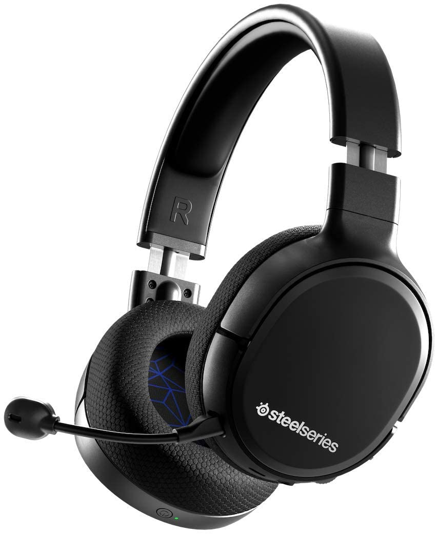 SteelSeries Arctis 1 Wireless Auriculares inalámbricos para juegos, USB-C Inalámbrico PS5 / PS4 / Nintendo Switch & Lite / Android, Negro