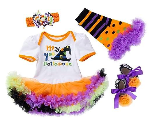 Fancyinn Bebé Niña Tutu Dress Romper Pumpkins Disfraz de ...