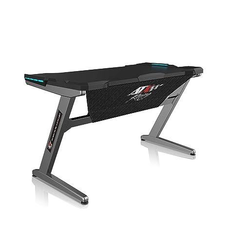 ATX Racing Z1 Mesa Gaming, Metal, Gris, Tamaño único: Amazon ...