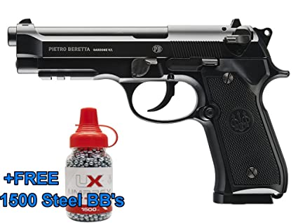 Umarex Beretta Fully Licensed 92A1 CO2 Full Metal Semi/Full Auto Blowback  Airgun Black W/Free 1500  177 BB - HSA is A Real Manufacturers Authorized
