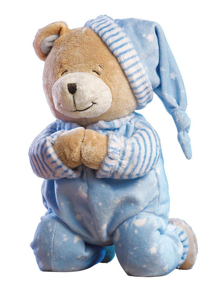 Amazon Com Praying Teddy Bear Stuffed Animal Blue Toys Games