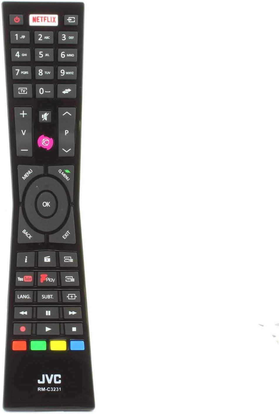 Genuino RM-C3231 Control Remoto para JVC Smart 4K LED TV RMC3231 LT-32C670 LT-32C661 LT-24C660 LT-24C661 LT-32C660: Amazon.es: Electrónica