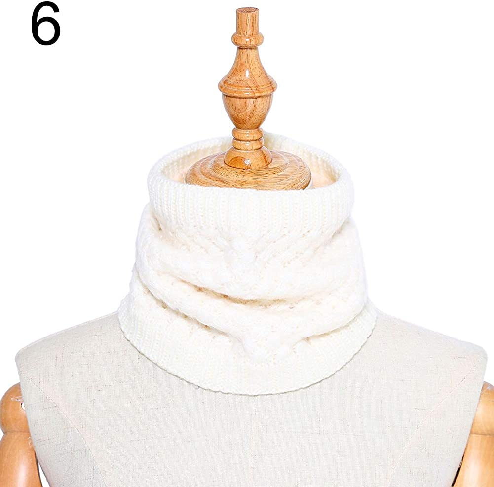 litymitzromq Womens Scarf Blanket Winter Men Women Solid Color Warm Fleece Lining Knitted Collar O Ring Neck Scarf