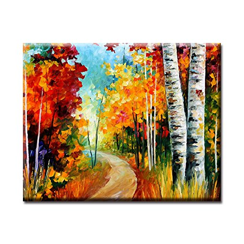 Antelope Framed (White Birches Modern Art Colorful Oil Painting Wall Decorative Artwork Frameless Ready to Hang)