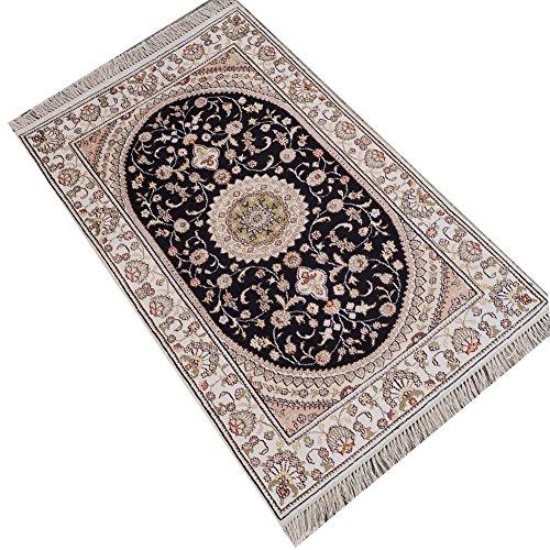 Camel Carpet Silk Hand Knotted Turkish Prayer Rug ()