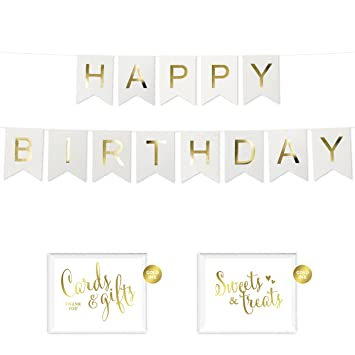amazon com andaz press shiny gold foil paper pennant hanging banner