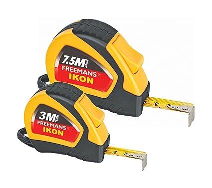 Freemans Ikon 3M 16Mm Measuring Tape + Ikon 7.5M 25Mm Measuring Tape