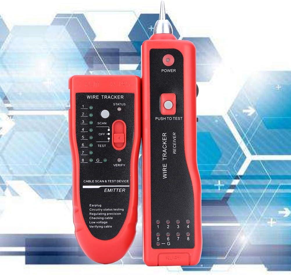 Tester per Cavi Tester per Cavi Automatico Controllo Volume Regolabile Tracciatore di Cavi telefonici Basso consumo energetico per lindustria UTP STP RJ45 RJ11 Casa Line Finder