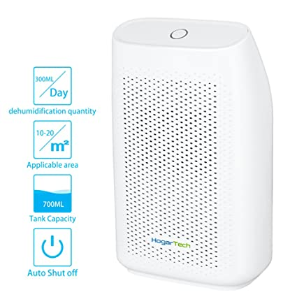 HogarTech Mini Dehumidifier, Ultra Quiet Portable Air Dehumidifier For  Small Room, Moisture Absorber For