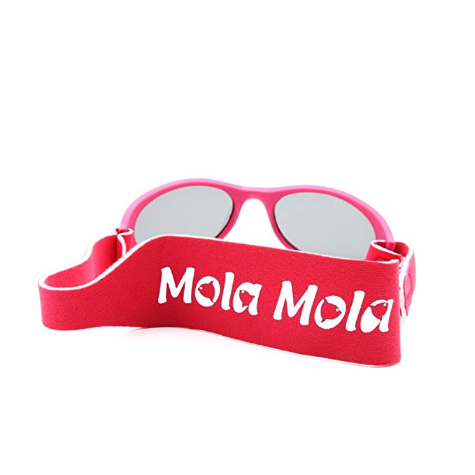 d46681a2ab Baby Sunglasses Polarized Wrapz With Strap Infants Kids Safety 1-3 years  Pink MOLA MOLA  Amazon.co.uk  Clothing
