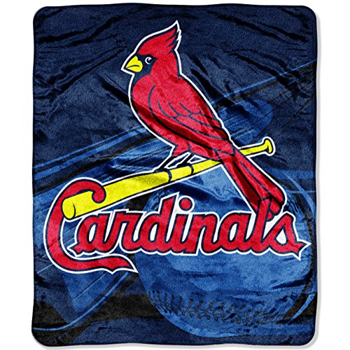St Louis Blanket (Officially Licensed MLB Big Stick Raschel Throw Blanket, Bedding, Soft & Cozy, Washable, 50