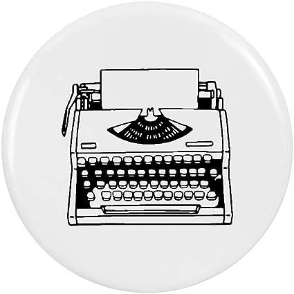 Azeeda 2 x 38mm Máquina de Escribir Insignia de Botones Pin (BB00048343)