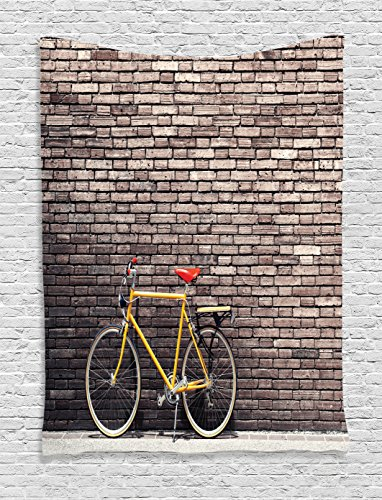 Ambesonne Bicycle Decor Tapestry Wall Hanging, Past Times Ae