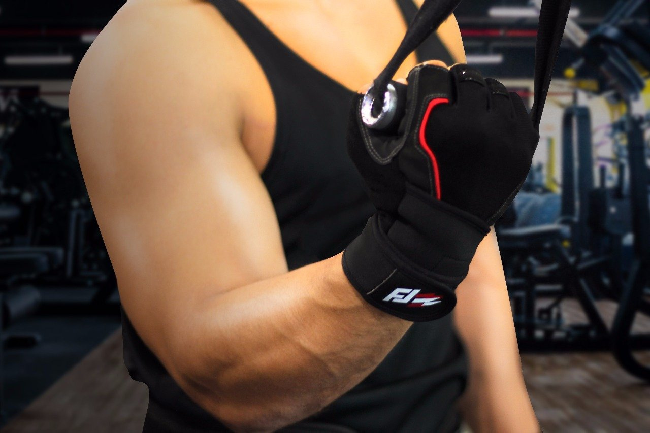 Fit jab Weightlifting Gloves Wrist Wraps Size L