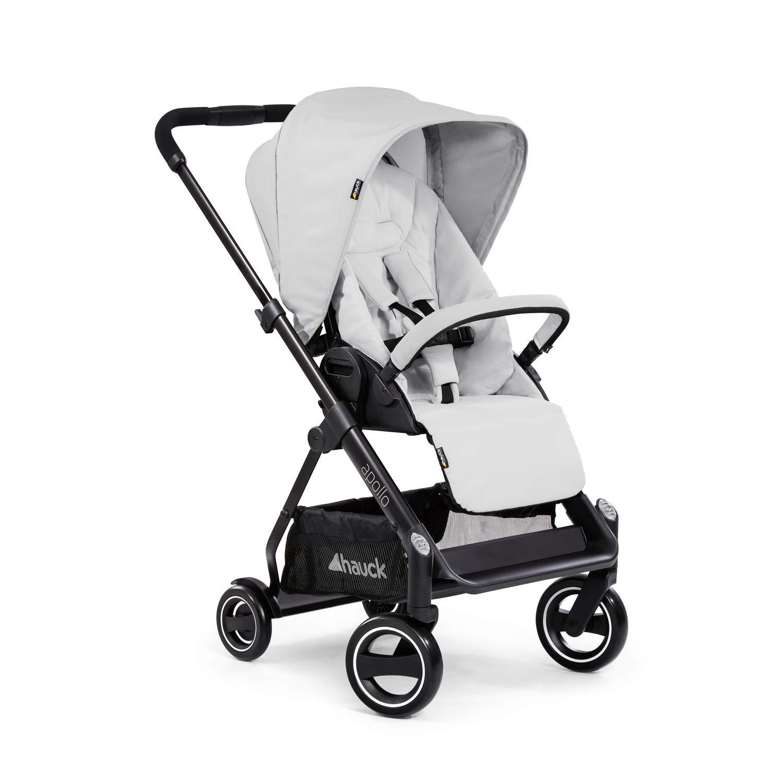 Hauck Apollo Sportwagen mit Beindecke bis 25 kg drehbar h/öhenverstellbarer Schiebegriff Reflektoren schwarz kompakt faltbar kompatibel mit Babywanne /& Babyschale