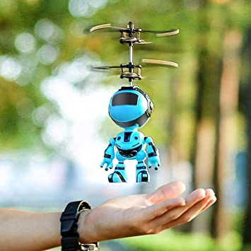 Adolenb Juguete volador RC, helicóptero de inducción infrarrojo ...