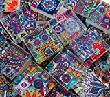 Glass Mosaic Tiles - Boho Moroccan Patchwork Purple Mixed 1 Inch Square Tiles