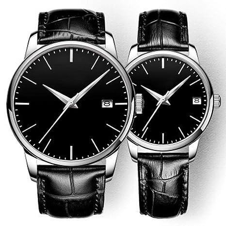 North King Relojes de Cuarzo para Hombre Impermeable Escala Simple Parejas Mans Reloj automático mecánico de