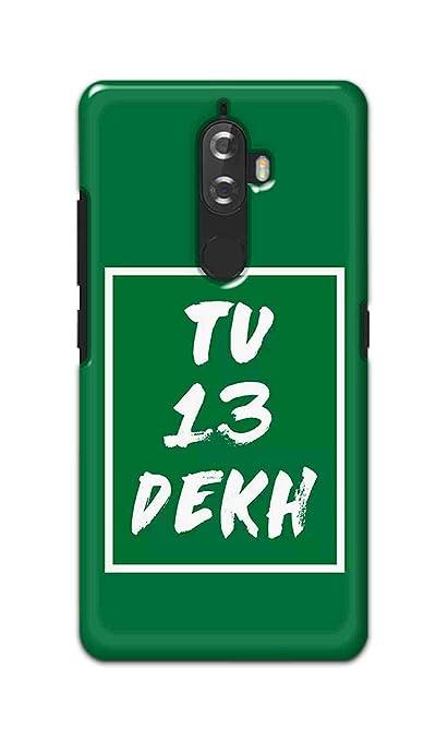 tu 13 Dekh Designer Back Cover for Lenovo K8 Plus: Amazon in