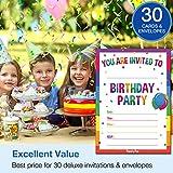30 Birthday Invitations with Envelopes